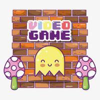 Retro Videospiel-Geisterkarikatur vektor