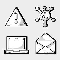 Programmiergerät Daten Informationstechnologie einstellen vektor