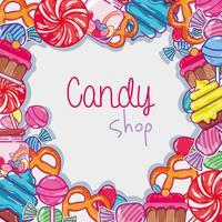 köstliches süßes Süßigkeitshintergrunddesign