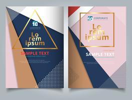 Abstrakta geometriska trianglar med cirklar och linjer mönster multicolor för tempalte broschyr vektor