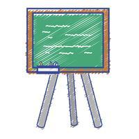 Schultafel mit Holzrahmen Design vektor