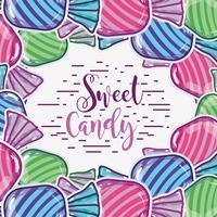 köstliches süßes Süßigkeitshintergrunddesign vektor