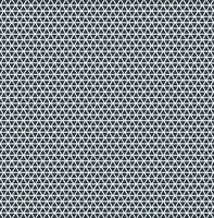 Blaue Farbe der abstrakten Dreieckmusterwiederholung auf weißem Hintergrund. vektor