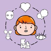 ställa in psykologiproblem och terapibehandling