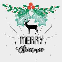 Dekorationsart der frohen Weihnachten zur Feier vektor
