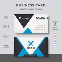 Corporate moderne Visitenkarte vektor