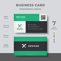 Kreativt visitkort vektor