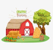 Ekologiska tecknat för jordbruk vektor