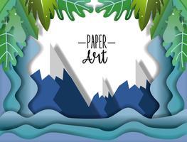 Papierkunstlandschaft vektor
