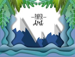 Papper konstlandskap