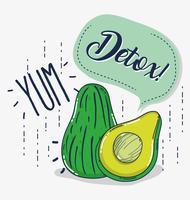 Detox und frisches Obst vektor