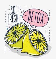 Detox und frisches Obst
