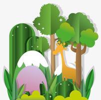 Papierkunst-Naturkarikaturen vektor