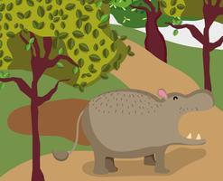 Niedlicher Elefant-Cartoon vektor