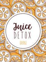 Juice detox bakgrund vektor