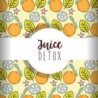 Juice Detox Hintergrund vektor