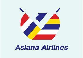 asiana flygbolag vektor