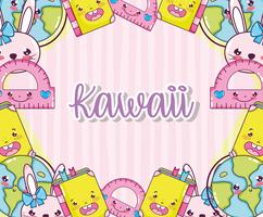Kawaii süße Cartoons vektor
