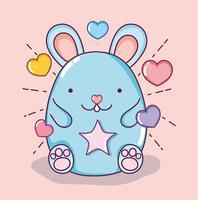 Süßer Hamster kawaii vektor