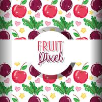 Fruchtpixelhintergrund vektor