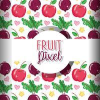 Frukt pixel bakgrund vektor