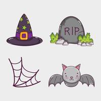 Uppsättning av halloween tecknade filmer