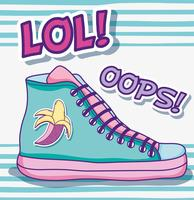 Cool sko pop art vektor