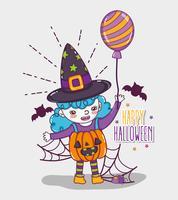 Glada halloween-korttecknade filmer vektor