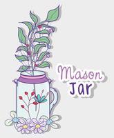 Garten Einmachglas Cartoon
