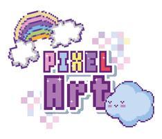 Pixel-Kunst-Konzept