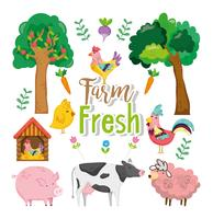 Bauernhof neues Konzept vektor