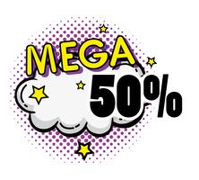 Mega Sale Pop Art Poster