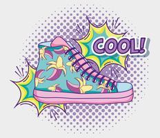 Coole Schuh-Pop-Art vektor