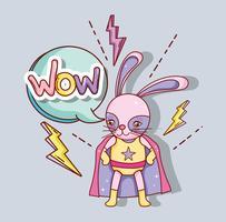 Superhjälta kanintecknad film vektor