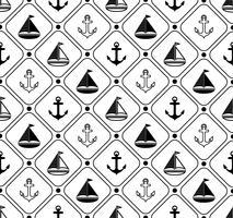 Marina sömlösa mönster. Lämplig för tapeter, papper, dekoration. vektor