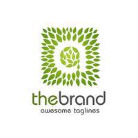 efter en tillverkad av gröna blad logotyp