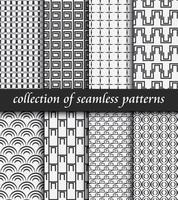 Satz nahtlose Muster des Art Deco. Stilvolle moderne Texturen. abstrakte Hintergründe