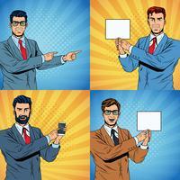Geschäftsmann-Pop-Art-Cartoon
