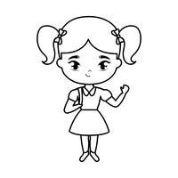 söt liten student flicka avatar karaktär