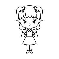 süße kleine Studentin Mädchen Avatar Charakter
