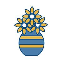 Vase mit Blumen-Symbol vektor