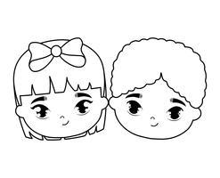 huvuden på söta små barn avatar karaktär