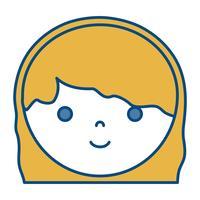 Cartoon-Frau-Symbol