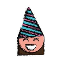 tjej med fest hatt-ikonen