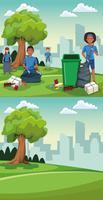Freiwillige für die Parkreinigung