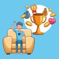 Jugendliche und Smartphone-Spiele