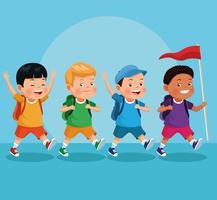 barn på skolresa
