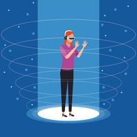 Technologie der virtuellen Realität vektor
