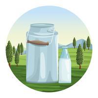 Jordbruksmjölk naturligt vektor