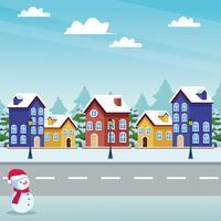 Frohe Weihnachten im Winter